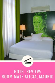 Hotel review of Room Mate Alicia in Madrid, Spain. Click this image to read the review, or re-pin it to your travel planning board!