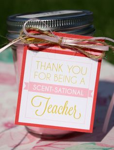 teacher gift, teacher appreciation, teacher gift tag, end of year gift, gift for teachers, teacher candle tag                                                                                                                                                                                 More