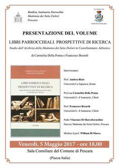 Pescara Libri parrocchiali prospettive di ricerca: venerdì 5 maggio la presentazione in Comune