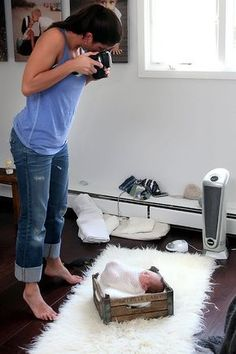 Tolle #Ideen um zu Hause ein #Babyshooting zu machen!