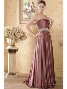 Beautiful Sheath One-shoulder Floor-length Elastic Satin Beading Evening Dress SSC4266-G