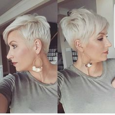 "3,428 Likes, 26 Comments - Short Hairstyles   Pixie Cut (@nothingbutpixies) on Instagram: ""Blonde pixie by @jessica.m.adkins"" #PixieHairstylesEdgy"