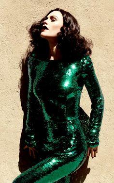 green sequins