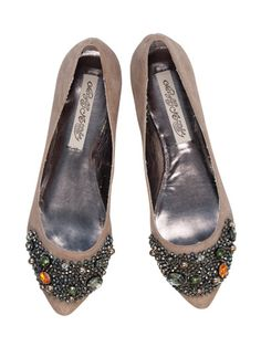 """""""Treasure Box"""" Ballet Flats in Taupe by Naughty Monkey from Solemates"""