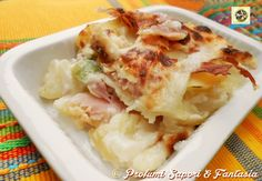 Parmigiana+di+patate+con+zucchine+e+prosciutto