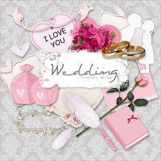 Friendly Scrap: New Freebie Wedding Kit