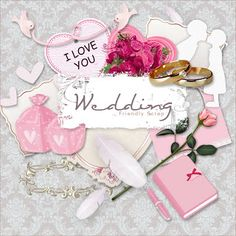 Friendly Scrap: New Freebie Wedding Kit