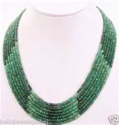 Lot 263 AN IMPORTANT SINGLE STRAND EMERALD BEAD NECKLACE, emerald ...