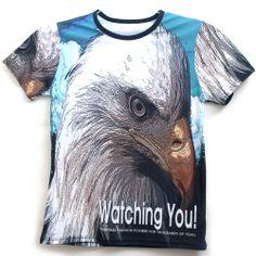 All Over Full Printing Handmade Custom Men S Graphic Eagle T Shirt Tops Tee An2