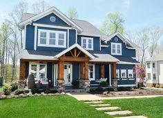 Craftsman showhouse. Paint color & wood porch details (+ floor plan) here.