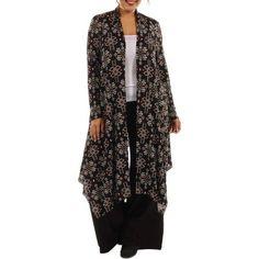 Plus Size 24/7 Comfort Apparel Women's Plus Patterned Cardigan Shrug, Size: XL
