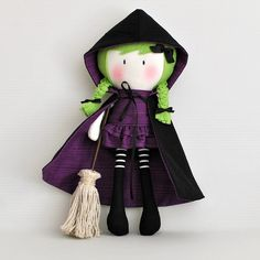 "My Teeny-Tiny Doll® Witch / Cook You Some Noodles 11"" Handmade Fashion Doll"