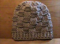 Crochet hat - Basketweave Beanie (english) - YouTube