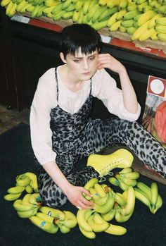 supermarket fashion fun - This supermarket fashion shoot is a fun, fruity and youthful twist to contemporary style. Twenty-year-old Irish student and photographer Elsa Bri...