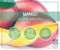 Kto raz spróbuje mango, nie zrezygnuje z niego tak łatwo. Mango to słodkie, soczyste owoce pełne witamin i minerałów. Wiedzieliście, że te zdrowe słodkości wspomagają między innymi nasze trawienie? :)  #ageless #wiecznamlodosc #mango #owoce #witaminy #slodkosci www.ageless.pl