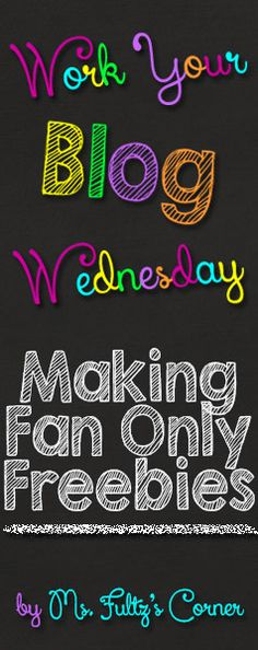 Work Your Blog Wednesday: Facebook Freebies