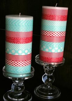 Tamara Jensen for MME - washi tape candles