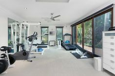 Home Gym Flooring Options Small Home Gyms, At Home Gym, Best Home Workout Equipment, Exercise Equipment, Fitness Equipment, Building A Home Gym, Green House Design, Latest House Designs, Home Gym Design