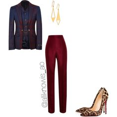 A fashion look from September 2014 featuring silk pants, high heel stilettos and earring jewelry. Browse and shop related looks. Silk Pants, High Heels Stilettos, Fashion Looks, Suits, Lady, Shopping, Outfits, Men's Suits, Suit