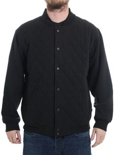 "Men's ""Campus"" Jacket by Fatal Clothing (Black) #inkedshop #inked #campusman #jacket #black #minimalist #minimal"