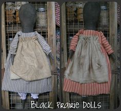 Simple Black prairie dolls. This site has free prim patterns.....scroll down to bottom.