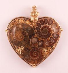 Orgonite Pendant  Triple Ammonite by OrgoneEyez on Etsy