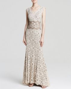 Tadashi Shoji Gown - Sleeveless V-Neck Lace PRICE: $388.00 http://www1.bloomingdales.com/shop/product/tadashi-shoji-gown-sleeveless-v-neck-lace?ID=1220221&CategoryID=2910&LinkType=recview_pdpzb&RecProdZonePos=recview-1#/fn=spp=1