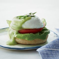 Avocado Hollandaise | Luscious, rich and lemony hollandaise gets completely re-imagined here in a light, supremely creamy puree of avocado, lemon juice and olive oil.