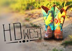 HD west custom painted boots. HD-west.com