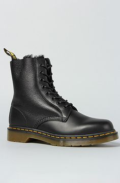 Dr. Martens The Brady 8Tie Shearling Boot in Black : Karmaloop.com - Global Concrete Culture