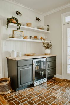 Paint Color Round-Up of our Home - House On Longwood Lane Diy Home Bar, Diy Bar, Bars For Home, In Home Bar Ideas, Home Wet Bar, Home Bar Decor, Living Room Bar, Dining Room With Bar, Living Rooms