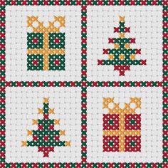 Cuatro originales, modernos diseños para hacer hermosas tarjetas de Navidad de punto de Cruz. Este listado está para un patrón PDF a todo color, que está disponible para su descarga inmediata. Los patrones se suministran como gráficos a todo color con diferentes colores utilizados para