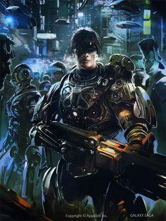 Cyberpunk. Future, Cyber City, Future Warrior, Futuristic Glasses, Cyborgs, Future City, Robots, Weapon, Armor