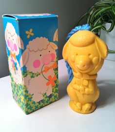 Vintage Avon Honey the Lamb Soap on a Rope Sculpture with Original Box - 1970s…