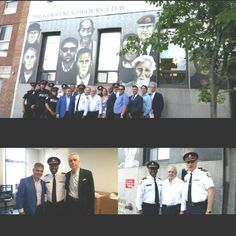 A remarkable morning at The Good Neighbours' Club.  Aquarius Mens Wear donated  some  of their excellent products and the Chief of the Toronto Police Service, Mark Saunders attended with his team from all over the service, including our local 51 Division.   The men are amazed that  someone would donate such quality clothing to them and have expressed their gratitude repeatedly all morning.
