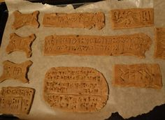 When Ancient Writing Is an Art, Science, and Snack  ||  If you're going to practice writing cuneiform, why not do it on a cookie?  https://www.atlasobscura.com/articles/ancient-writing-baking-cookies-cuneiform-near-east?utm_campaign=crowdfire&utm_content=crowdfire&utm_medium=social&utm_source=pinterest
