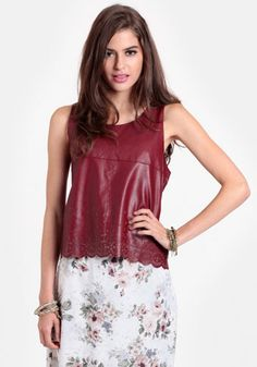 Hawthorne Laser Cut Leatherette Tank #trendy Get 5% cash back http://www.studentrate.com/itp/get-itp-student-deals/Threadsence-Discounts-and-Coupons--/0