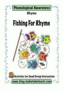 Fishing For Rhyme! Several rhyme activities, DIY printables too - Re-pinned by @PediaStaff – Please Visit http://ht.ly/63sNt for all our pediatric therapy pins