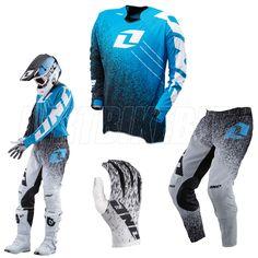 2013 One Industries Vapor Motocross Kit Combo - Noise Blue Black - 2013 One Industries Motocross Kit Combos - Adult - 2013 One