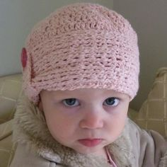 Knit-Look Crocheted Cloche Pattern - I made one like this for my grand baby.