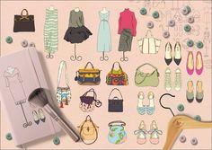 Wardrobe Pack by Cecília Murgel Drawings on @creativemarket