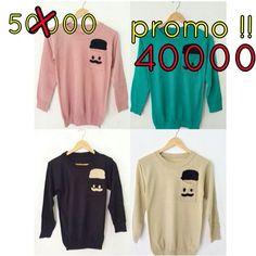 pocket moustache. Size freesize fit to L (rajut halus) LD fit to 110cm Price 40000 For more info & order, please contact us Line : annisanurulg WA : 088806906942 (only WA) Bbm : 7FA6609B  Reseller and dropshiping are very welcome  Shipping in the world .   #rajut #baju #atasan #pakaian #bajuwanita #sweater #dropship #reseller #bajumurah #onlineshopjogja #rajutan #knit #knitwear #jualan #jualanku #local #localbrand #bajulokal #sweaterrajut #bajurajut #yogyakarta #trusted #bajubagus #knit…
