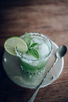 cucumber, mint, and lime margarita • jet & indigo