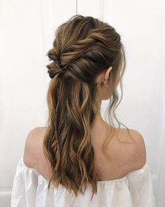 Top 30 Long Blonde Hair Ideas of 2019 in 2020 Formal Hairstyles, Bride Hairstyles, Weave Hairstyles, Cool Hairstyles, Hairstyle Ideas, Fringe Hairstyle, Messy Ponytail Hairstyles, Everyday Hairstyles, Easy Hairstyle
