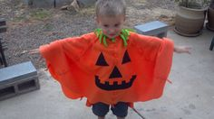 Spooky Ghost Costume Fleece Poncho Children Toddler by TerriLeeCNS