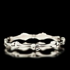 Bone Bangle - Sterling Silver