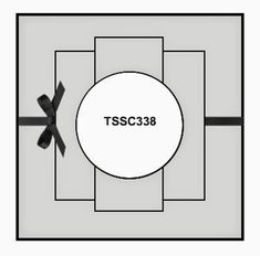 cardmaking design sketch ... square format ... centered layers ... ribbon wrap ... TSSC338