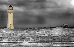 Lighthouse on the River Mersey, Liverpool by john_barr