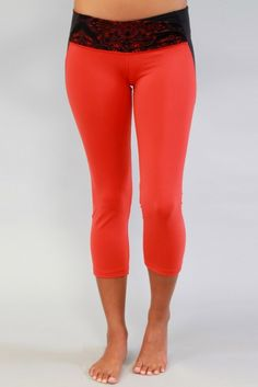 Cozy Orange- Athena Yoga Crops:-From yoga tops and shirts to yoga pants and skirts, Yoga Clothes for Women has all the clothing that women need for their next yoga workout.
