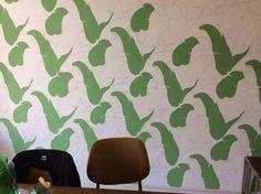 Diy Martinique wallpaper in progress